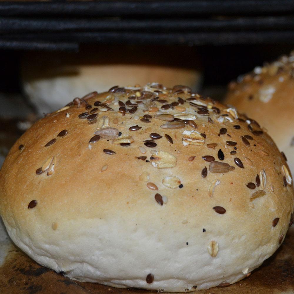 pan de hamburguesa artesano en Barcelona