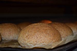 Pan de hamburguesa de espelta